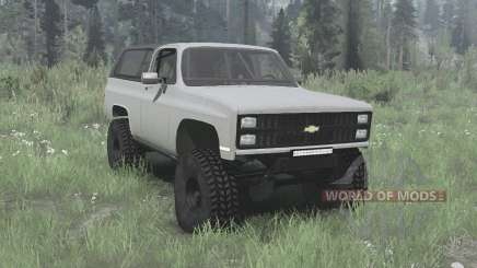 Chevrolet K5 Blazer 1981 for MudRunner
