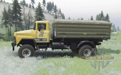 KrAZ 260 4x4 yellow for Spin Tires