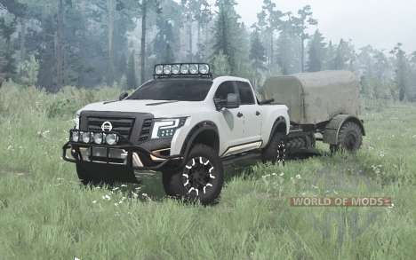 Nissan Titan Warrior concept 2016 for Spintires MudRunner