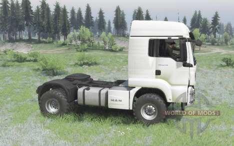 MAN TGS 18.440 4x4 white v1.3 for Spin Tires