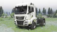 MAN TGS 18.440 4x4 white v1.3 for Spin Tires