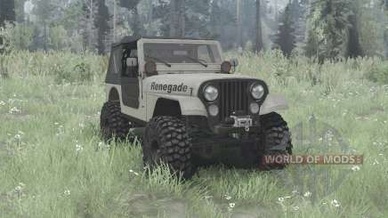 Jeep CJ-7 Renegade overland for MudRunner