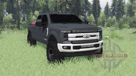 Ford F-350 Super Duty Crew Cab 2017 for Spin Tires