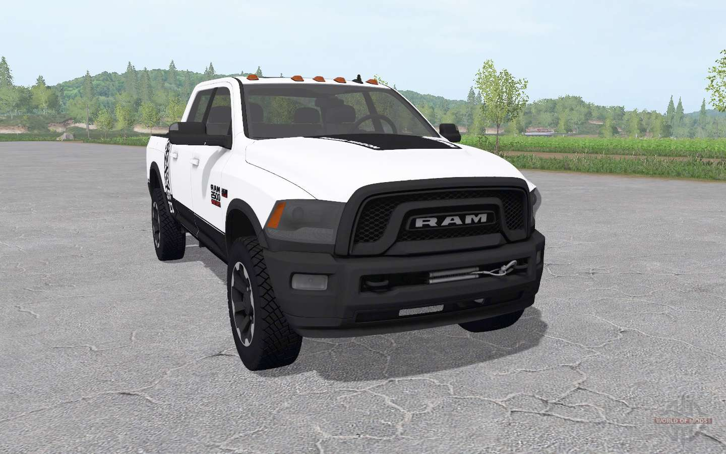 Dodge Ram 2500 Power Wagon Crew Cab V11 For Farming Simulator 2017