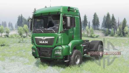 MAN TGS 18.440 4x4 green v1.3 for Spin Tires