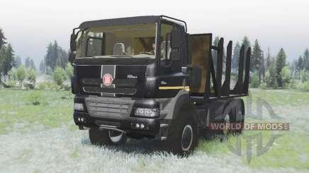 Tatra Phoenix T158-8P5 6x6 2011 black v1.2 for Spin Tires