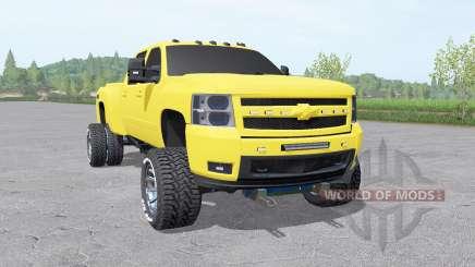 Chevrolet Silverado 3500 HD Crew Cab 2007 v2.0 for Farming Simulator 2017