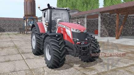 Massey Ferguson 8740 S More Realistic v1.1 for Farming Simulator 2017
