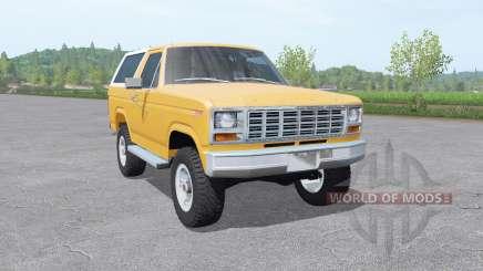Ford Bronco XLT (U150) 1981 v1.3 for Farming Simulator 2017