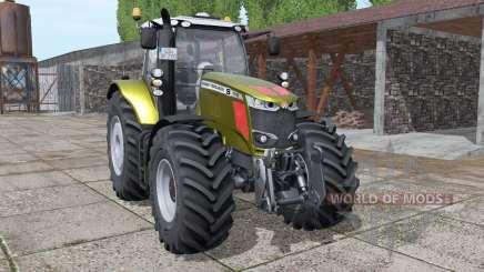 Massey Ferguson 7718 S gold design v1.1 for Farming Simulator 2017