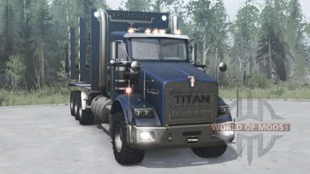 Kenworth T800 four-axle 2005 for MudRunner