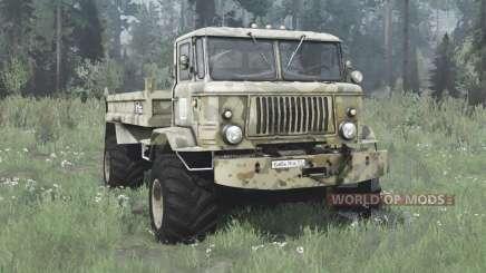 GAZ 66 Baba Yaga for MudRunner