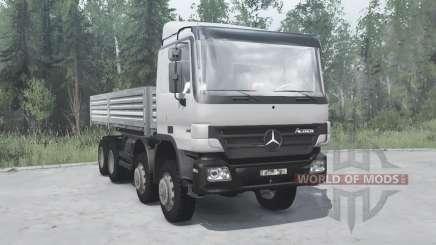 Mercedes-Benz Actros 4141 (MP2) 2003 v4.0 for MudRunner