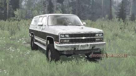 Chevrolet K1500 Suburban 1989 for MudRunner