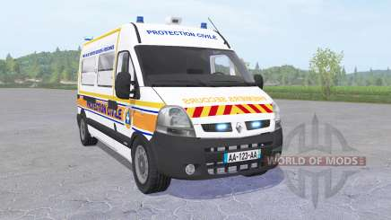 Renault Master 2003 Protection Civile de Paris for Farming Simulator 2017