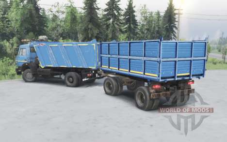 KamAZ 43253 blue for Spin Tires