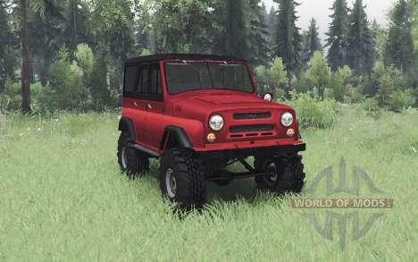 UAZ 469 black-red for Spin Tires