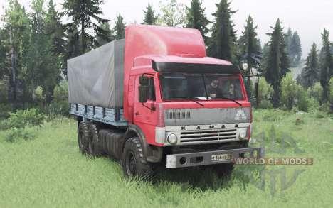 KamAZ 43114 red v1.2 for Spin Tires