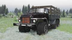 Ural 375 6x6 black for Spin Tires