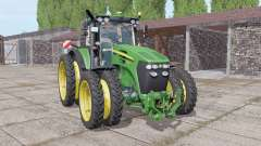 John Deere 7730 narrow double wheels for Farming Simulator 2017