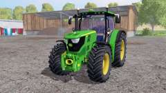 John Deere 6170R twin wheels for Farming Simulator 2015