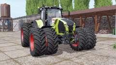 CLAAS Axion 870 double wheels for Farming Simulator 2017