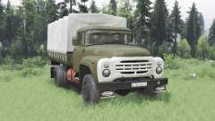 ZIL 130 4x4 green v2.0 for Spin Tires