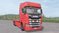 Scania S 420 Flatbed for Farming Simulator 2017