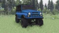 UAZ 469 black-blue for Spin Tires