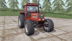 Fiatagri 140-90 Turbo DT dark red for Farming Simulator 2017