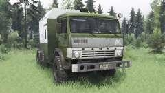 KamAZ 43114 green v1.2 for Spin Tires