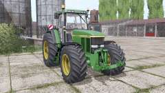 John Deere 7810 wide tyre for Farming Simulator 2017