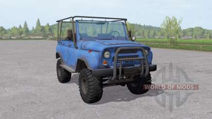 UAZ 31519 moderately-blue for Farming Simulator 2017