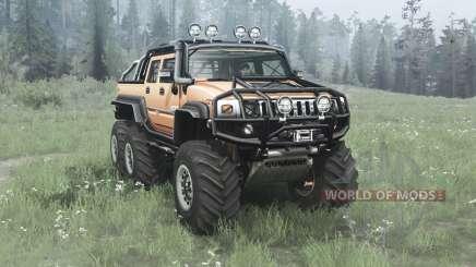 Hummer H2 SUT 6x6 v2.0 for MudRunner