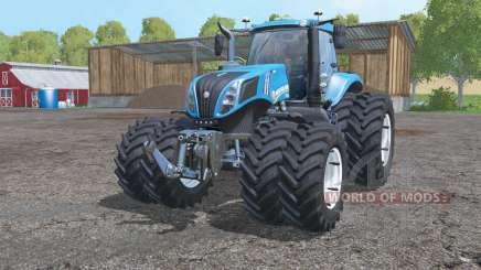 New Holland T8.435 twin wheels for Farming Simulator 2015