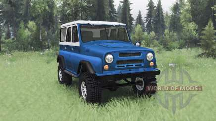 UAZ 469 blue white for Spin Tires