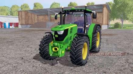 John Deere 6170R twin wheels for Farming Simulator 2015