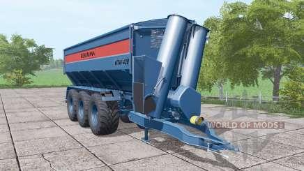 BERGMANN GTW 430 dark blue for Farming Simulator 2017