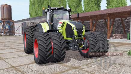 CLAAS Axion 870 double wheels for Farming Simulator 2017