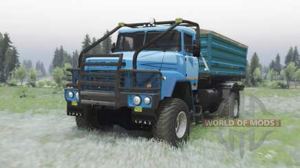 KrAZ 260 4x4 moderately-blue for Spin Tires