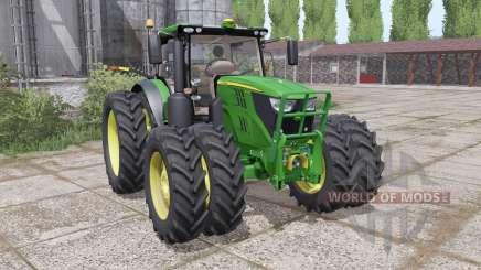John Deere 6135R narrow twin wheels for Farming Simulator 2017