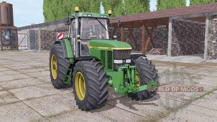 John Deere 7800 wide tyre for Farming Simulator 2017