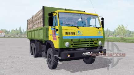 KamAZ 55102 with a trailer v1.1 for Farming Simulator 2017