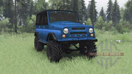 UAZ 469 black-blue for Spin Tires