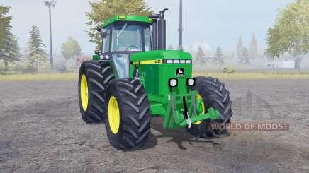 John Deere 4455 twin wheels for Farming Simulator 2013