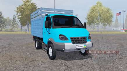 GAZ 3310 Valday 2004 blue for Farming Simulator 2013