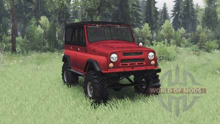 UAZ 469 black-red for Spin Tires