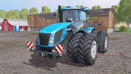 New Holland T9.700 twin wheels for Farming Simulator 2015