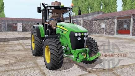 John Deere 7830 lime green for Farming Simulator 2017