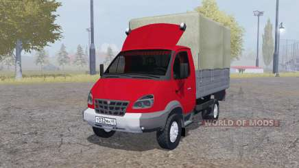 GAZ 3310 Valday 2004 red for Farming Simulator 2013